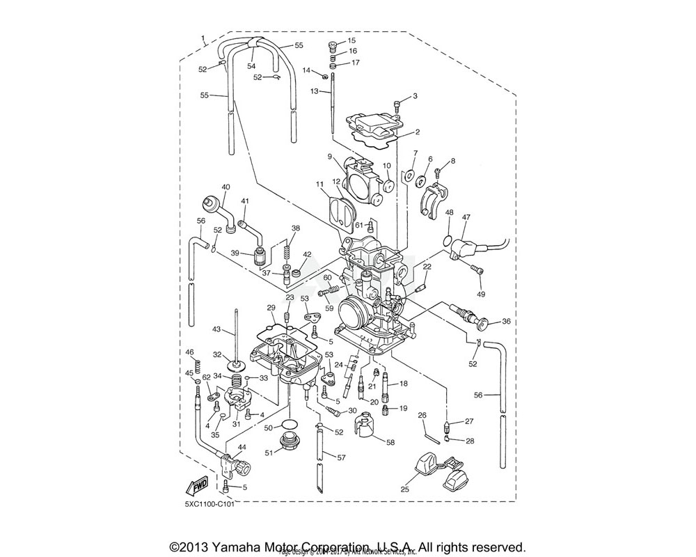 Yamaha OEM 8ES-14147-00-00 O-RING
