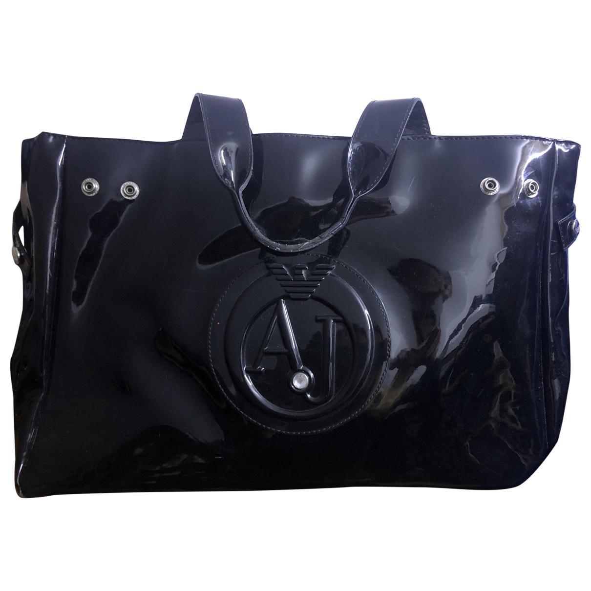 Armani Jeans \N Black Patent leather handbag for Women \N