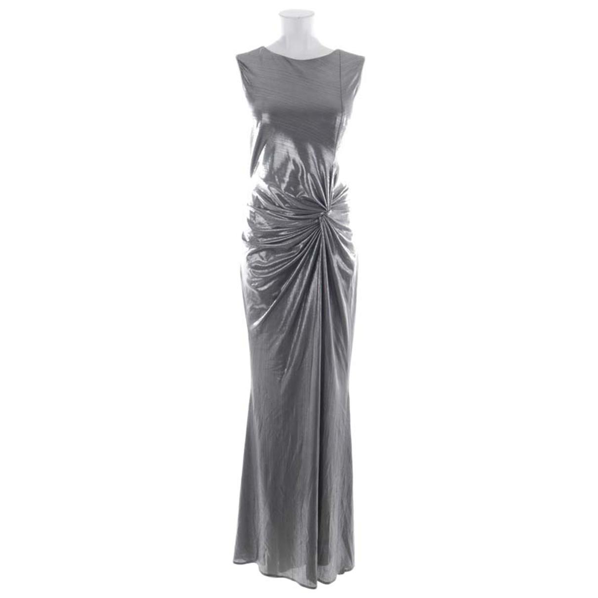 Talbot Runhof \N Kleid in  Metallic Polyester