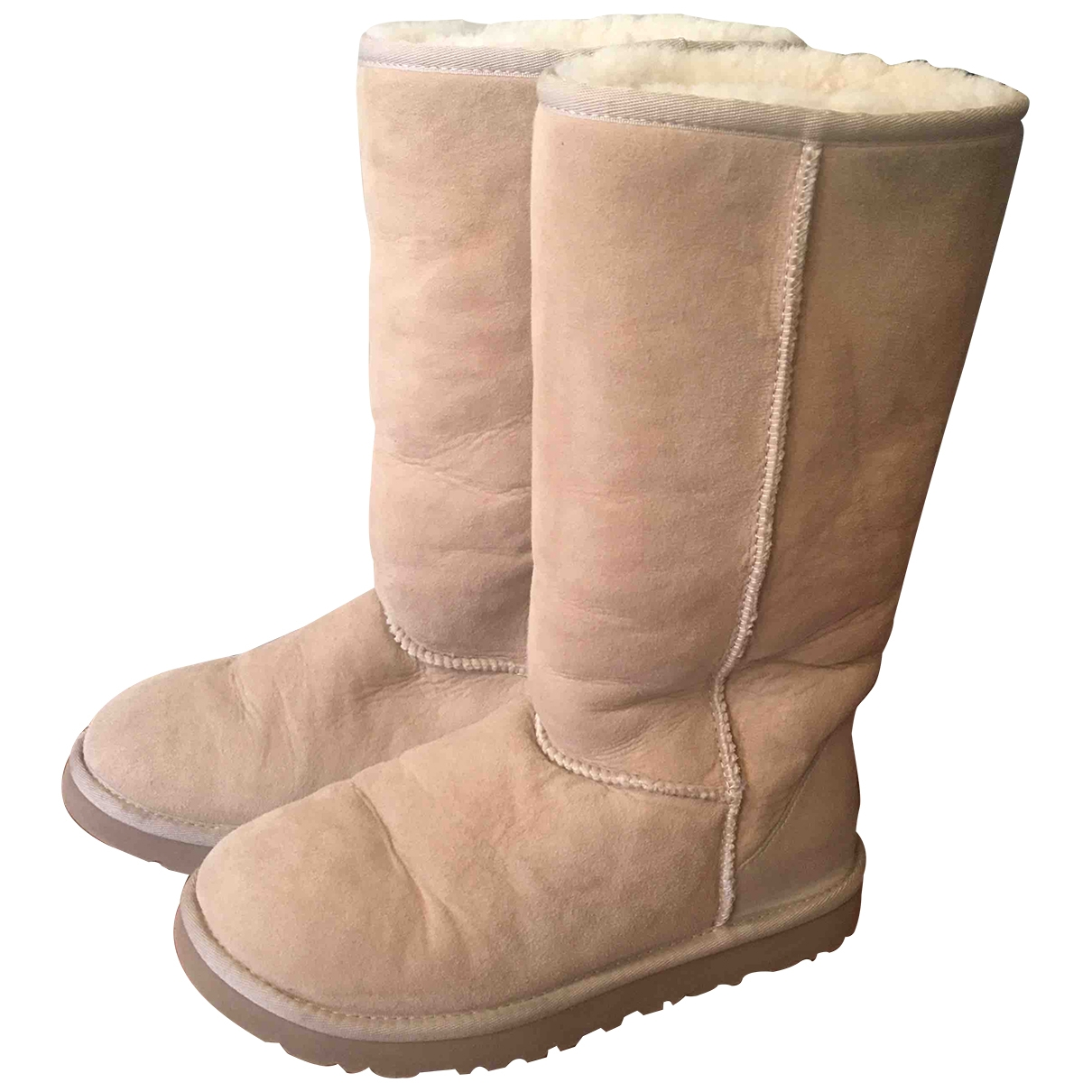 Ugg \N Beige Suede Boots for Women 7 US