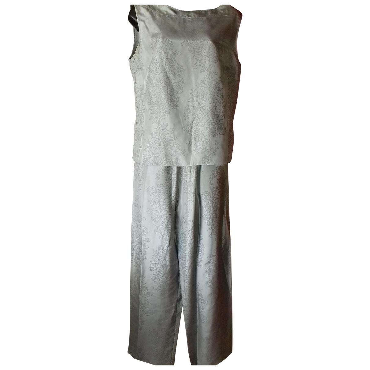 - Combinaison   pour femme en soie - gris