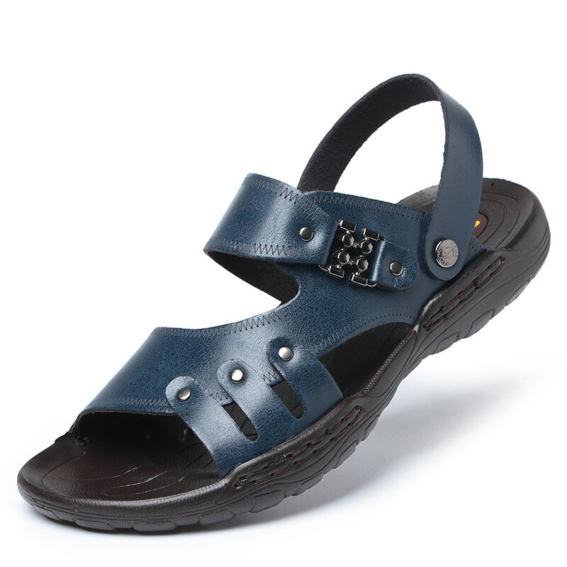 Men Open Toe Comfy Soft Sole Water Beach Casual Sandals