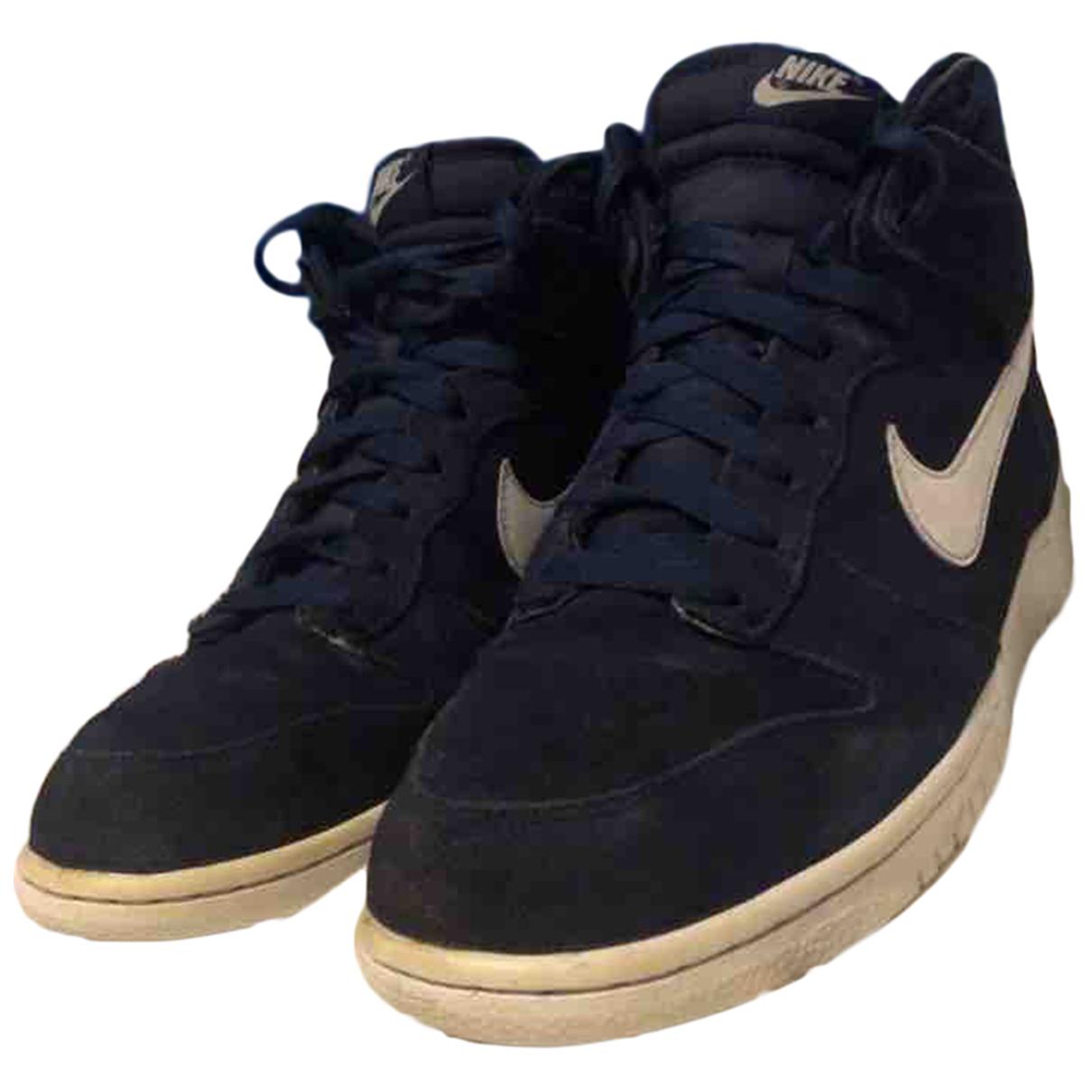 Nike - Baskets SB Dunk  pour homme en suede - bleu