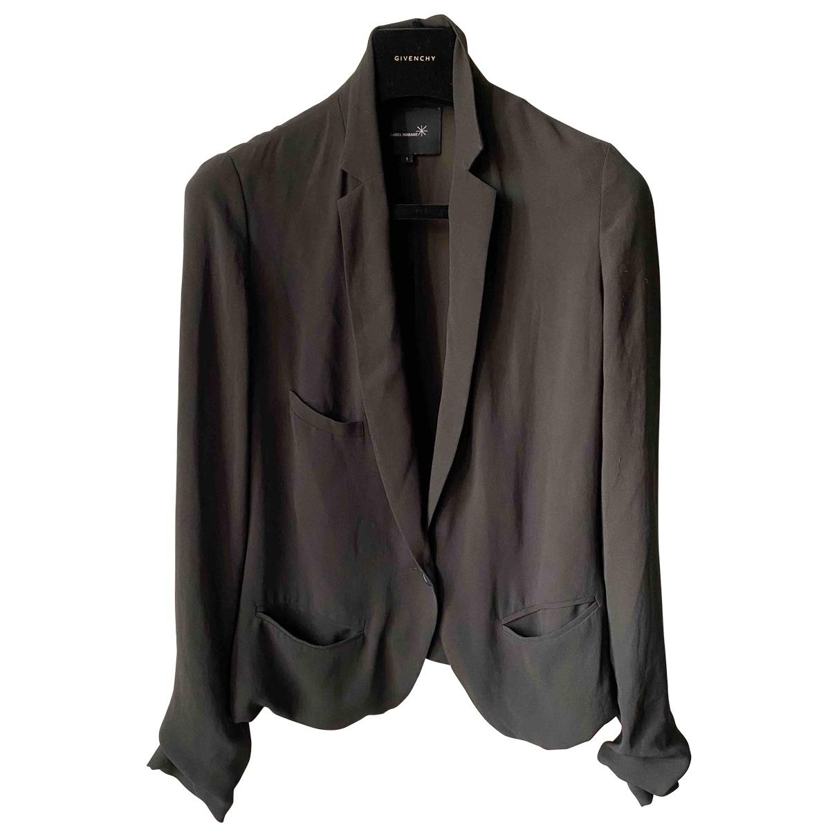 Isabel Marant - Veste   pour femme en soie - noir