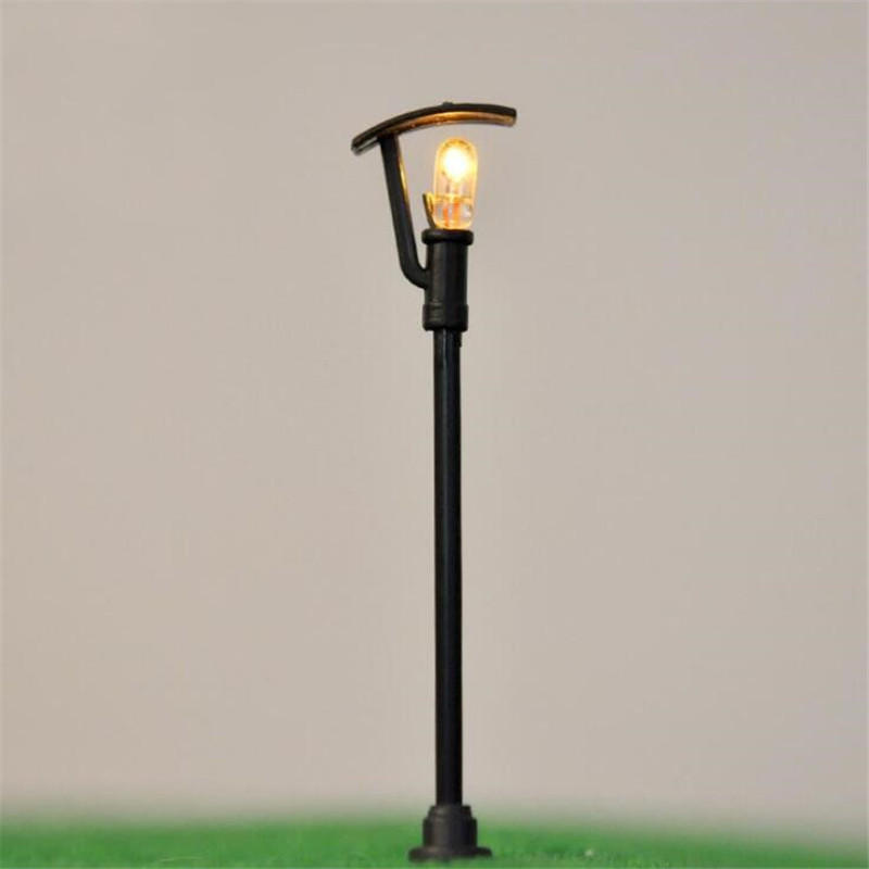 HO OO Scale 5Pcs 6V DIY Model LED Garden Light Street Lampost For Architecture Street Construction Sand Table Material