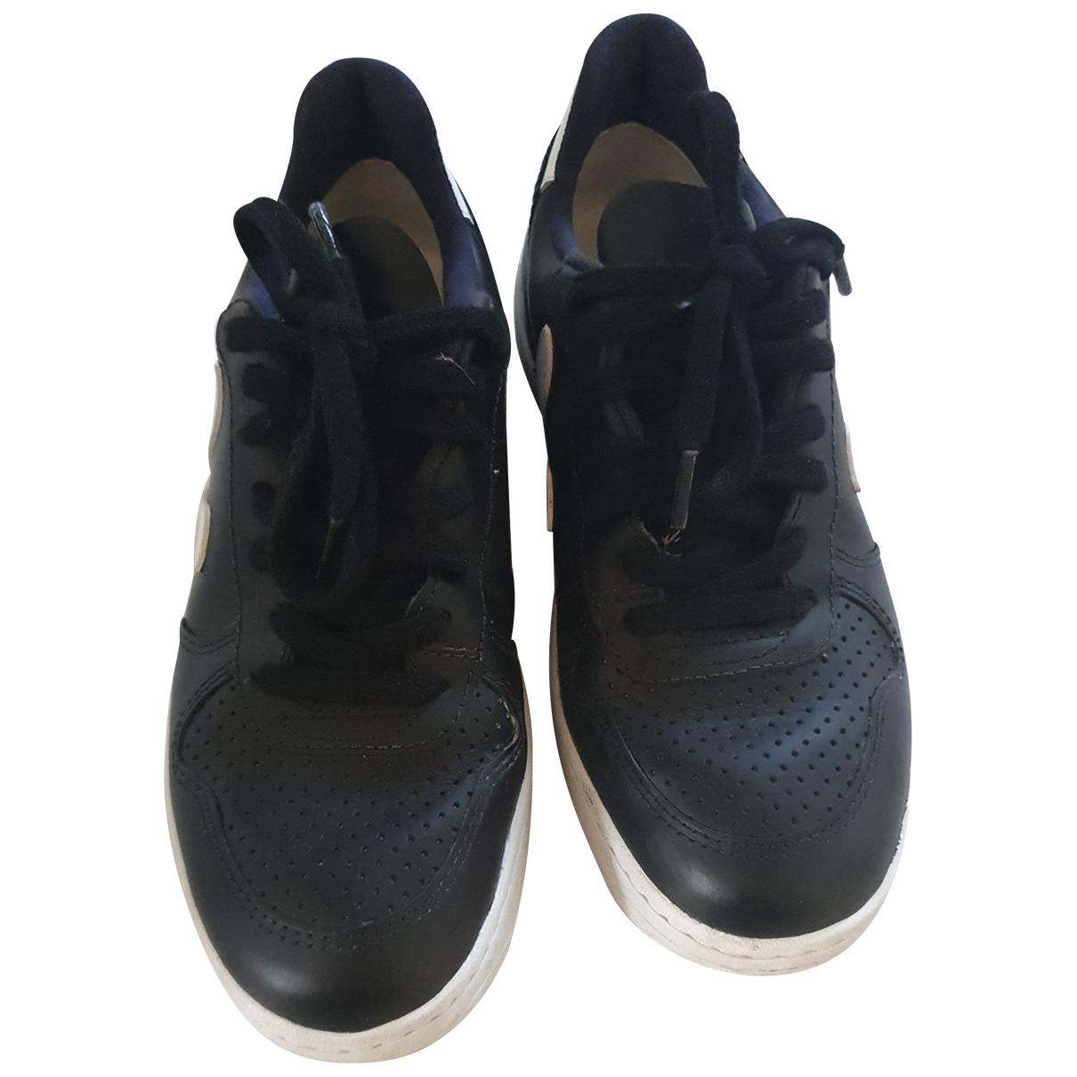 Vejas - Baskets   pour femme en cuir - noir