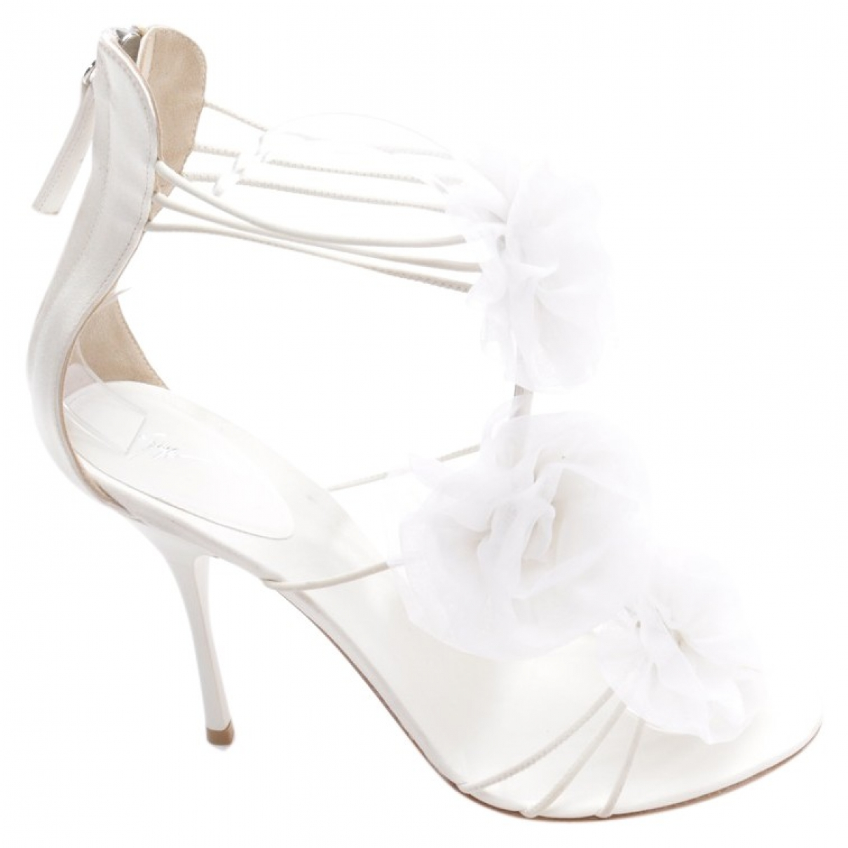 Giuseppe Zanotti - Sandales   pour femme en toile - blanc