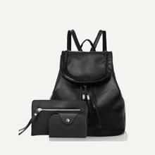 Taschen Set aus Kunstleder - Rucksack, Tasche, Portemonnaie