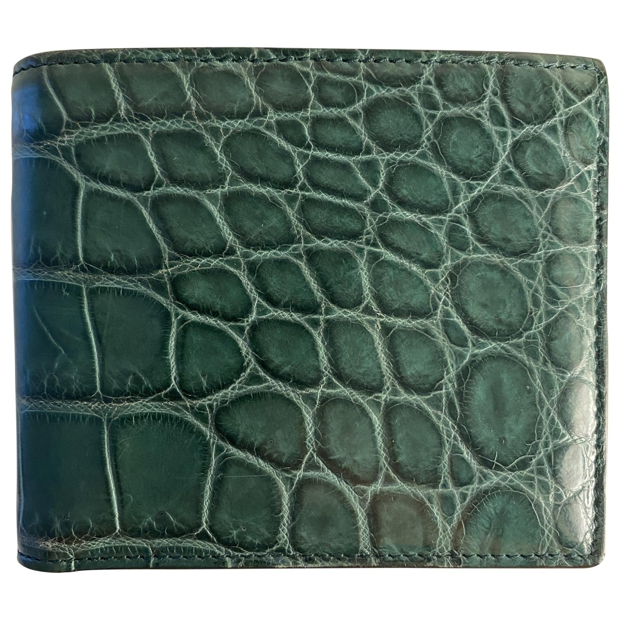 Gucci \N Green Crocodile Small bag, wallet & cases for Men \N