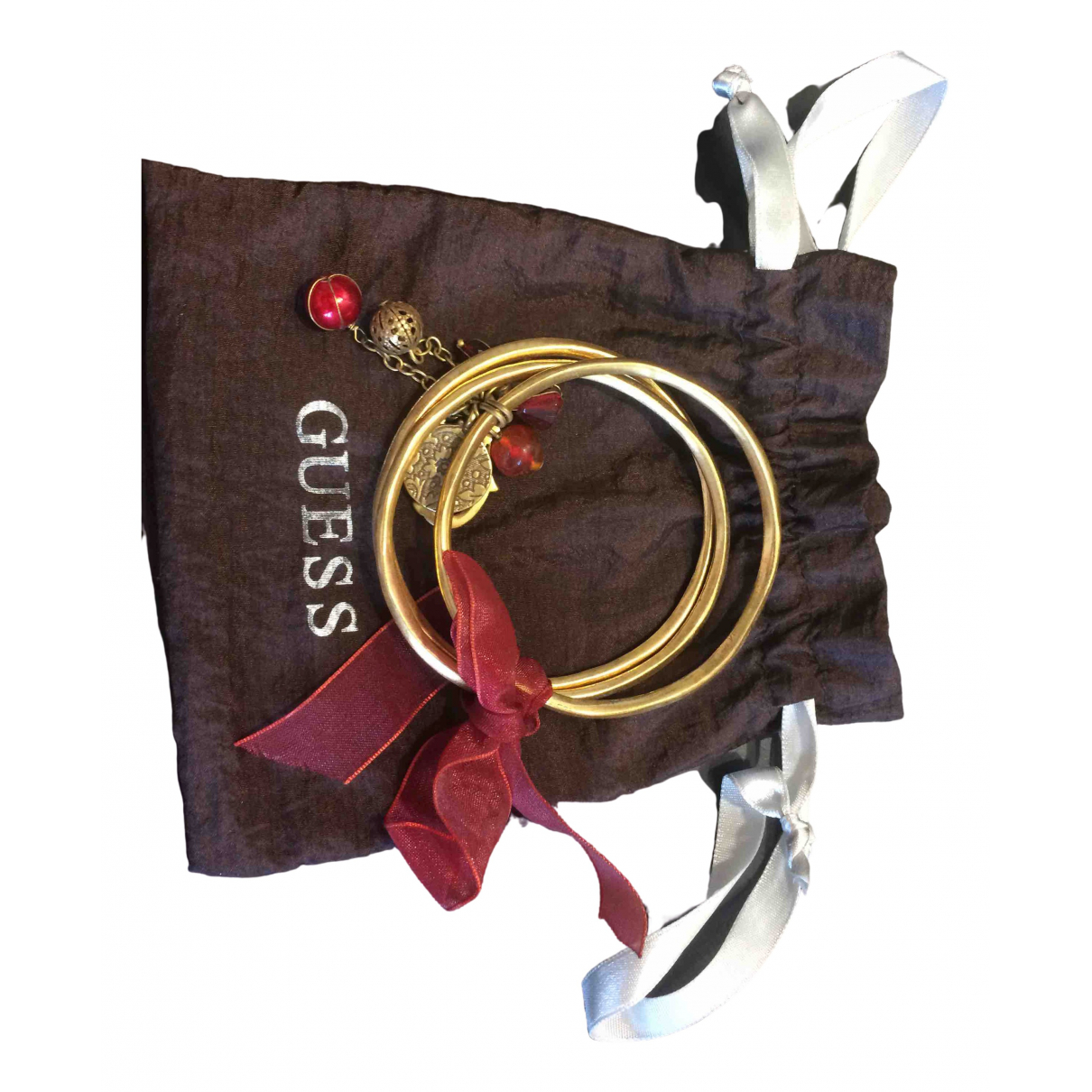 Guess \N Armband in  Gold Metall