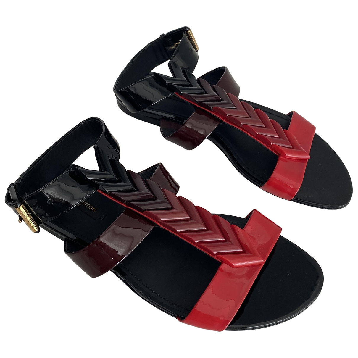 Louis Vuitton \N Sandalen in  Bunt Lackleder