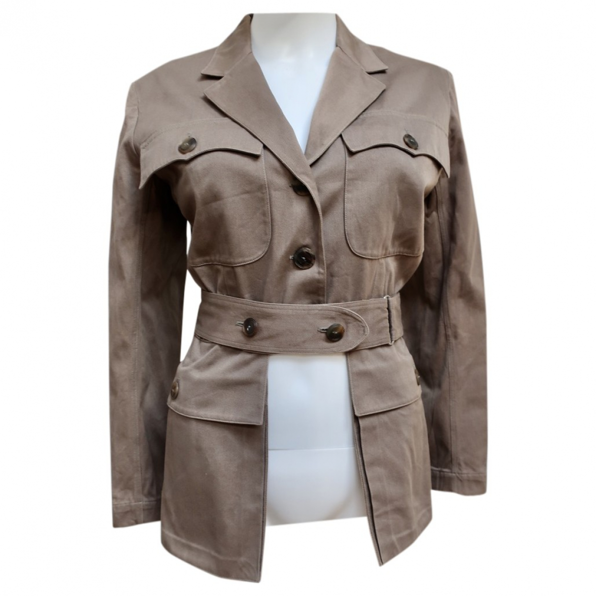 Alaïa \N Khaki Cotton jacket for Women 38 FR