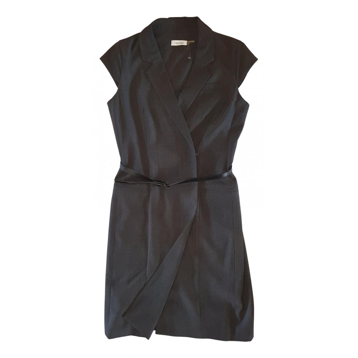 Calvin Klein \N Kleid in  Grau Polyester
