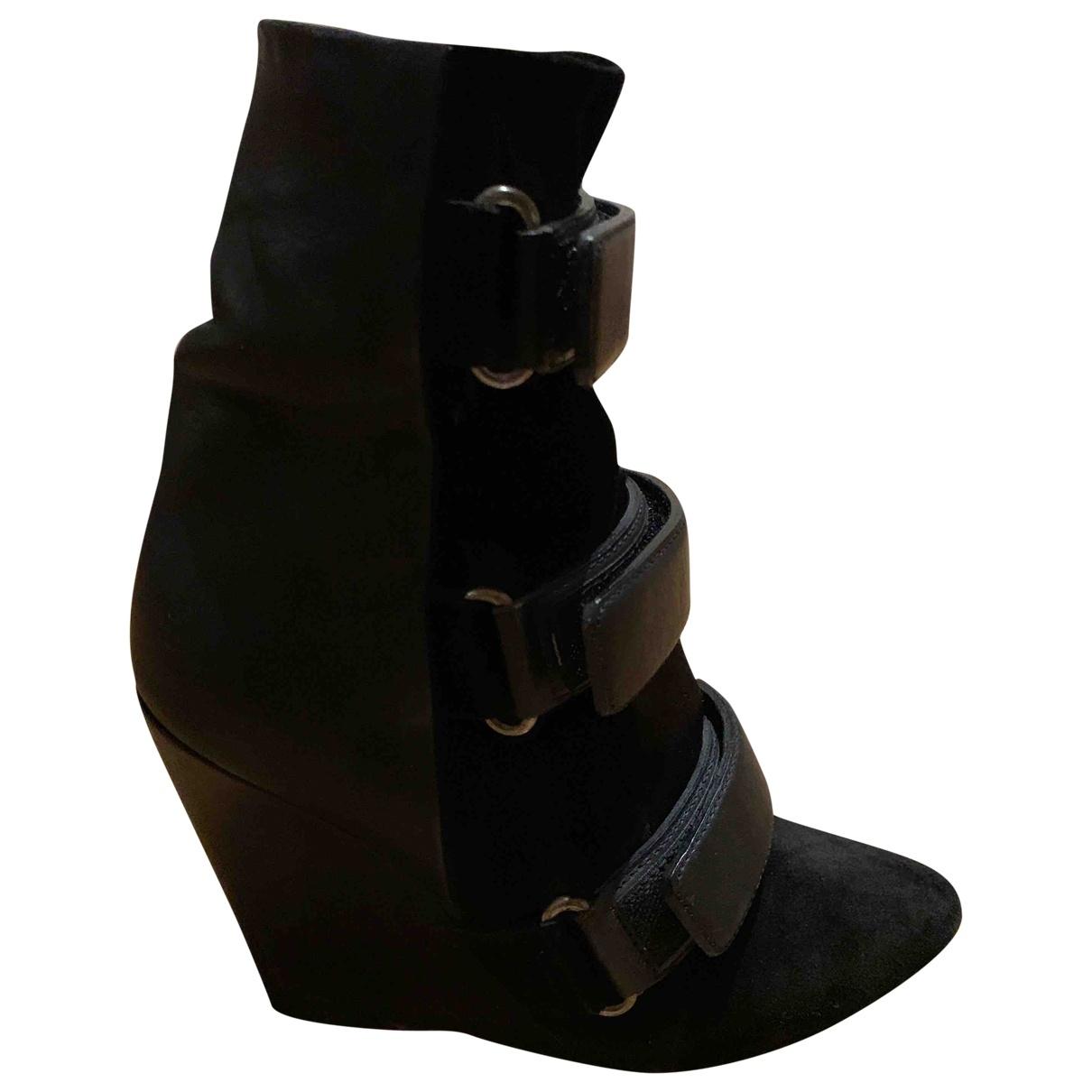 Isabel Marant - Boots   pour femme en veau facon poulain - noir