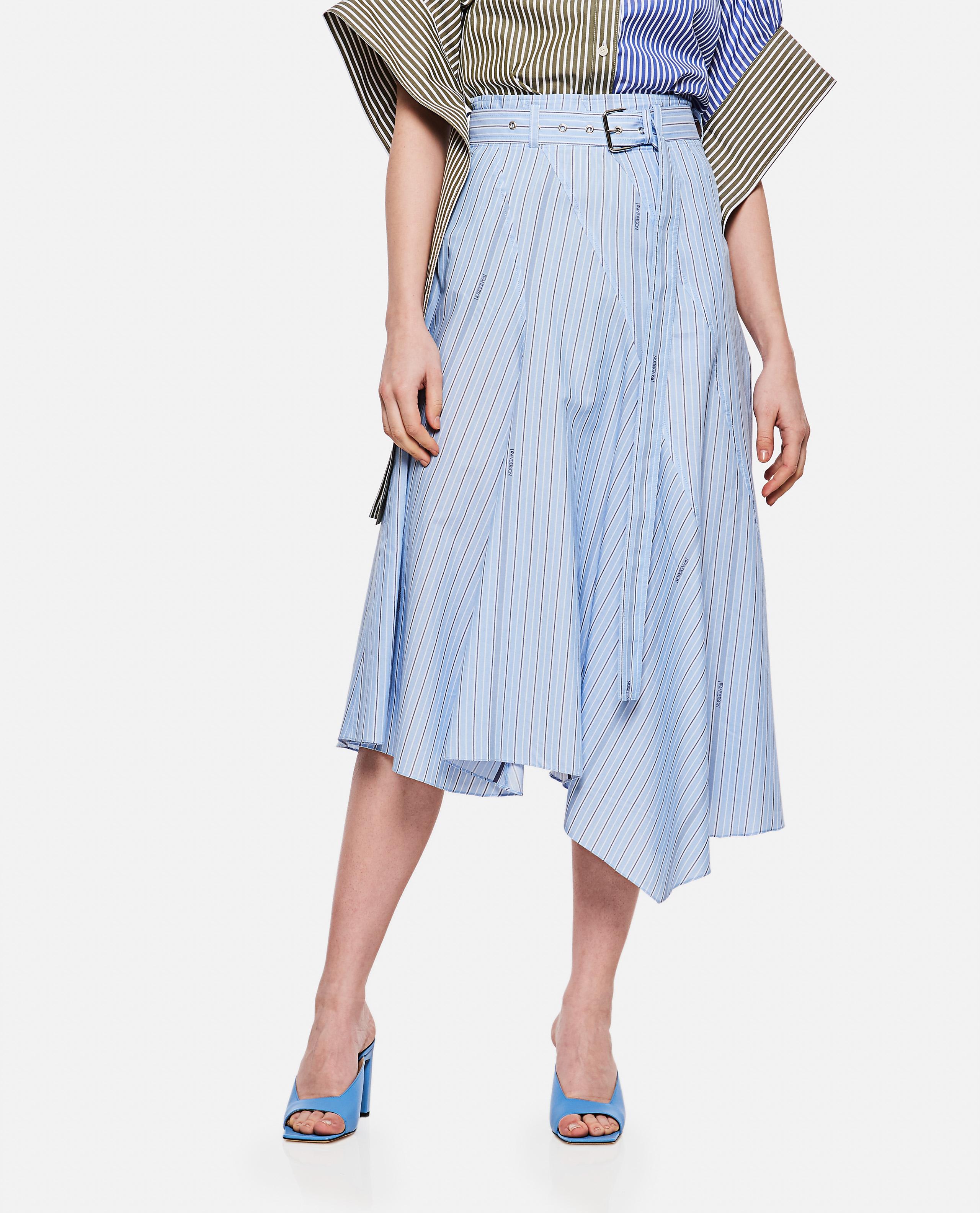 Asymmetrical cotton skirt