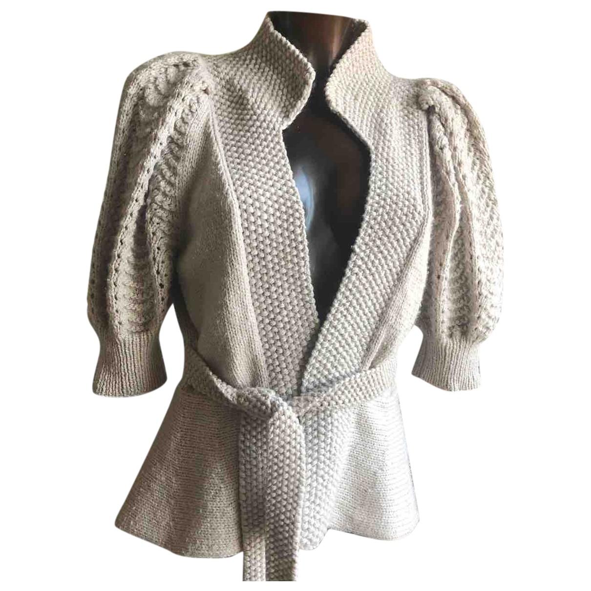 Antik Batik - Pull   pour femme en laine - beige