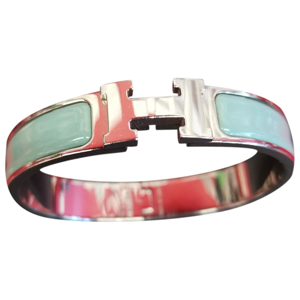 Hermes - Bracelet Clic H pour femme en metal - bleu