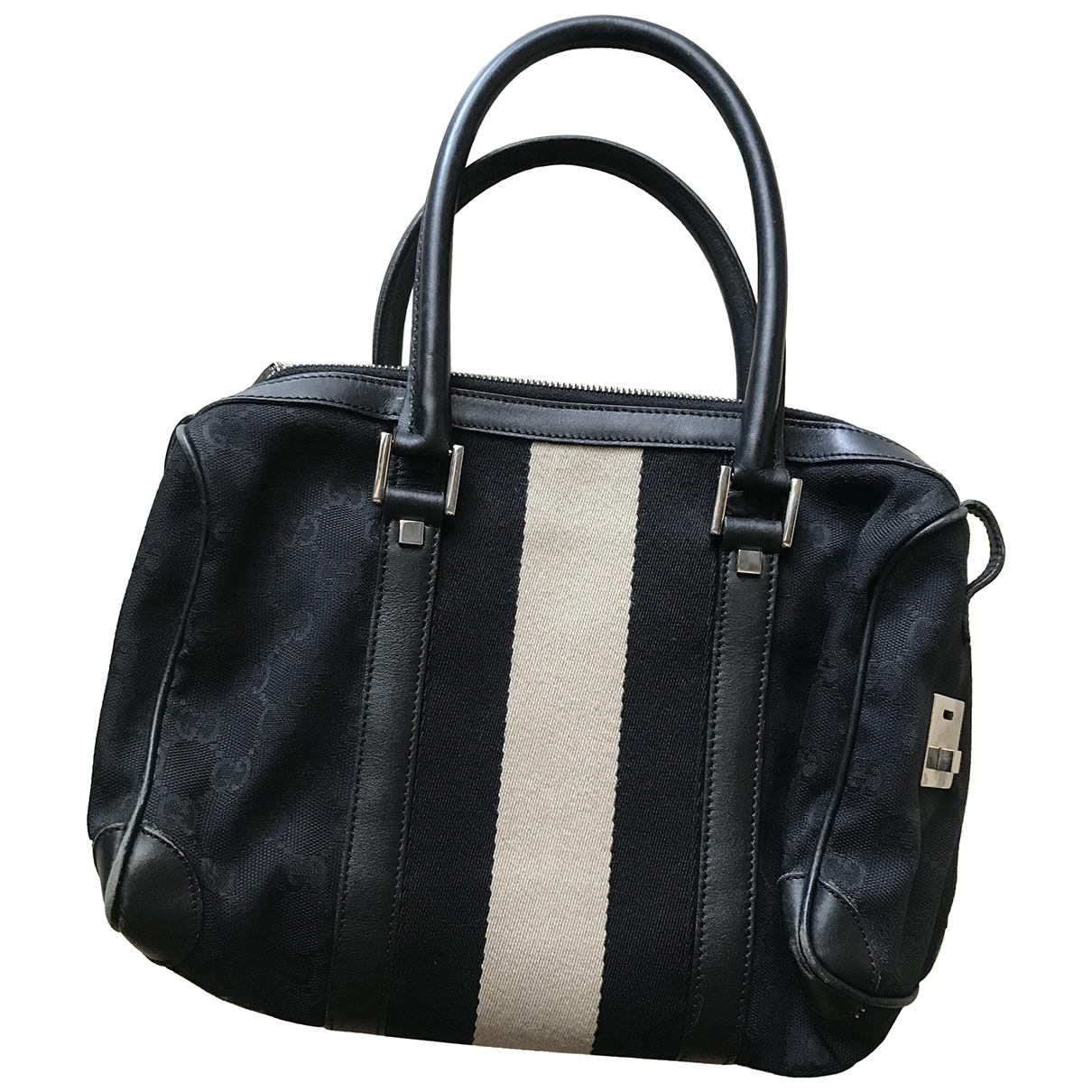 Gucci Boston Black Cloth handbag for Women \N