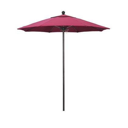 ALTO758117-5462 7.5' Venture Series Commercial Patio Umbrella With Bronze Aluminum Pole Fiberglass Ribs Push Lift With Sunbrella 2A Hot Pink