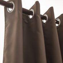 1pc Solid Eyelet Curtain