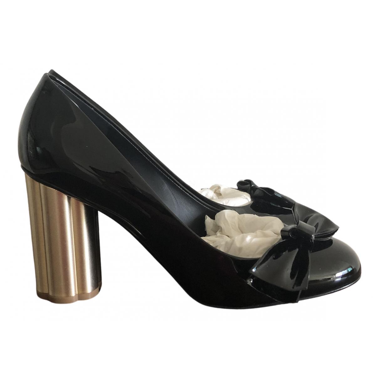 Salvatore Ferragamo N Black Patent leather Heels for Women 9.5 US