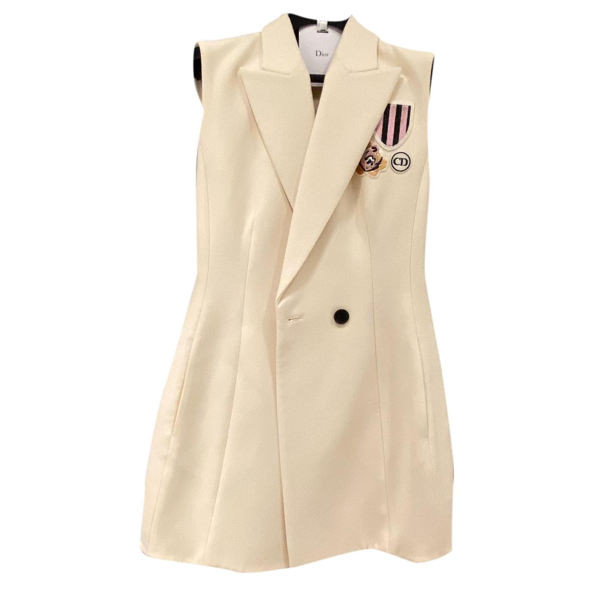 Christian Dior - Veste   pour femme en laine - beige