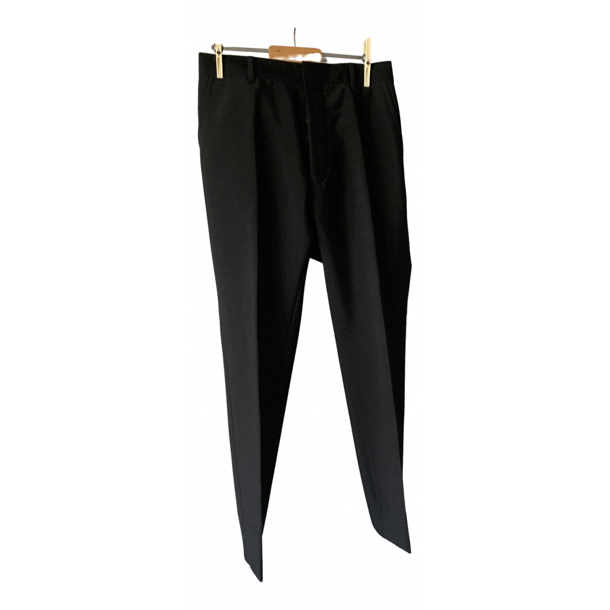 Prada \N Black Cotton Trousers for Men 50 IT