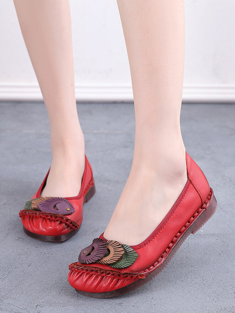 Women's Fish Pattern Casual Soft Wearable Driving Flat Shoes