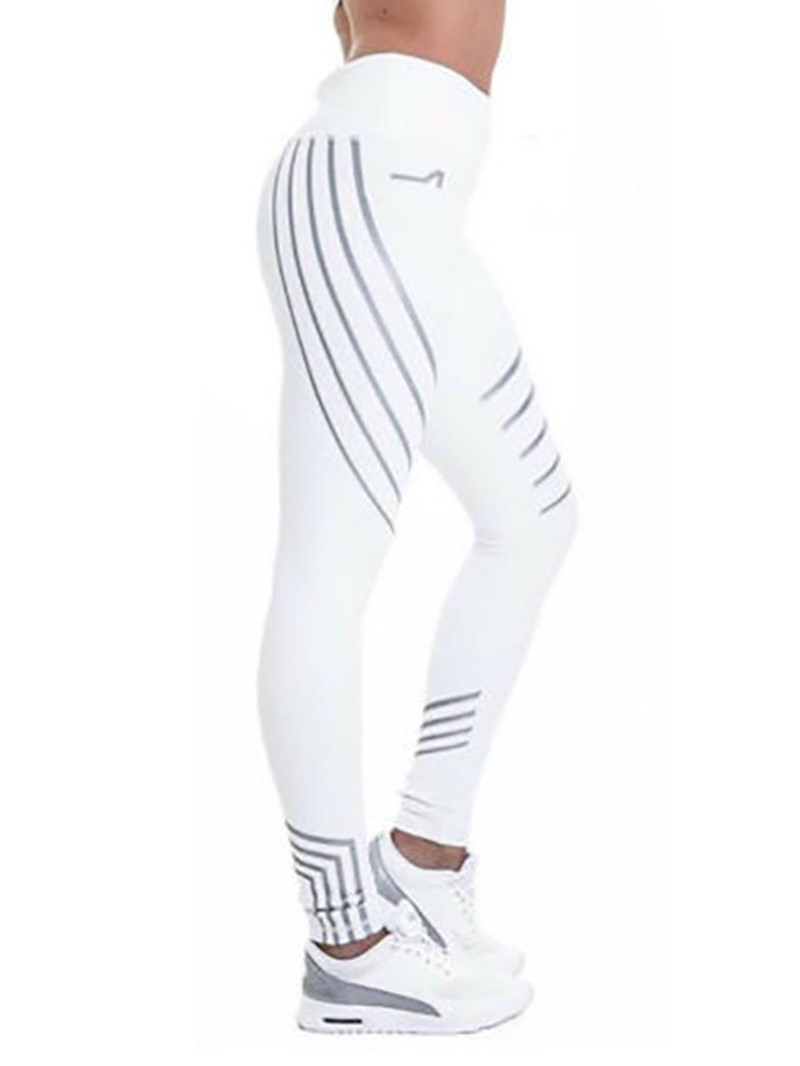 Ericdress Striped Skinny Sports Women's Leggings Pants