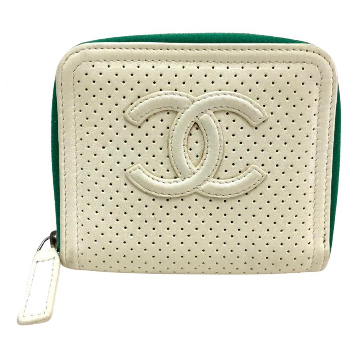 Chanel - Petite maroquinerie   pour femme en cuir - ecru