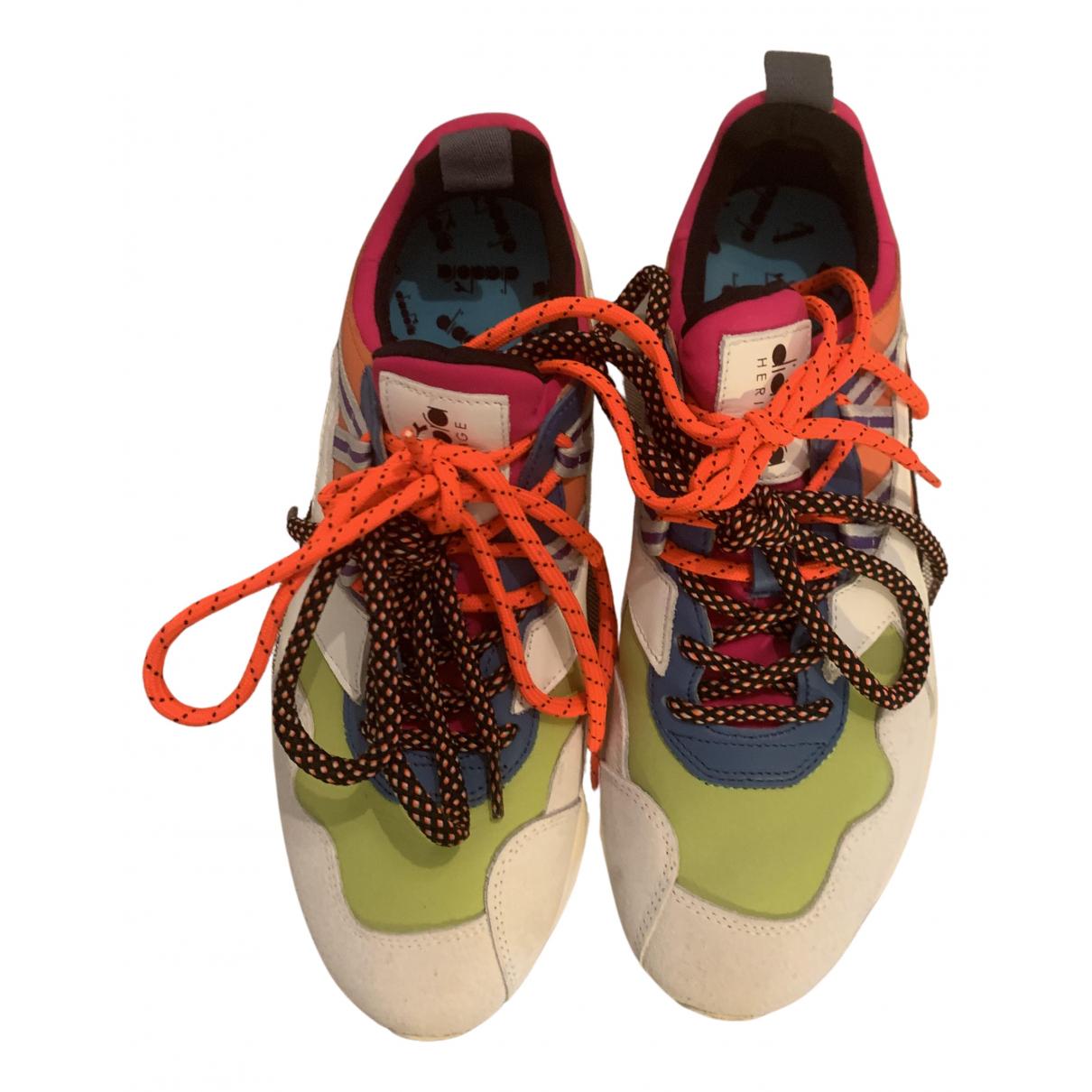 Diadora Heritage - Baskets   pour femme en cuir - multicolore