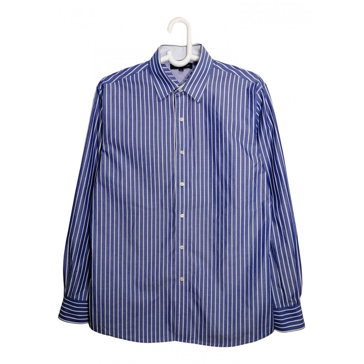 Tommy Hilfiger \N Blue Cotton Shirts for Men 16 UK - US (tour de cou / collar)