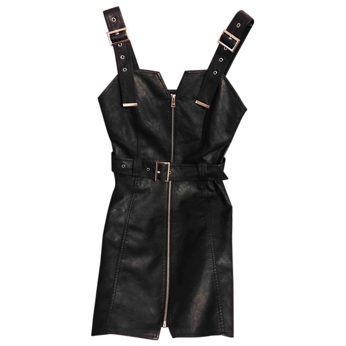 Muubaa - Robe   pour femme en cuir - noir