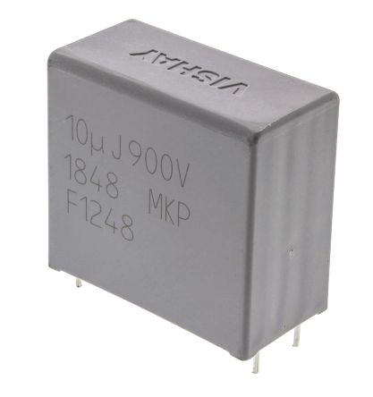 Vishay 10μF Polypropylene Capacitor PP 900V dc ±5% Tolerance Through Hole MKP1848 DC-Link Series