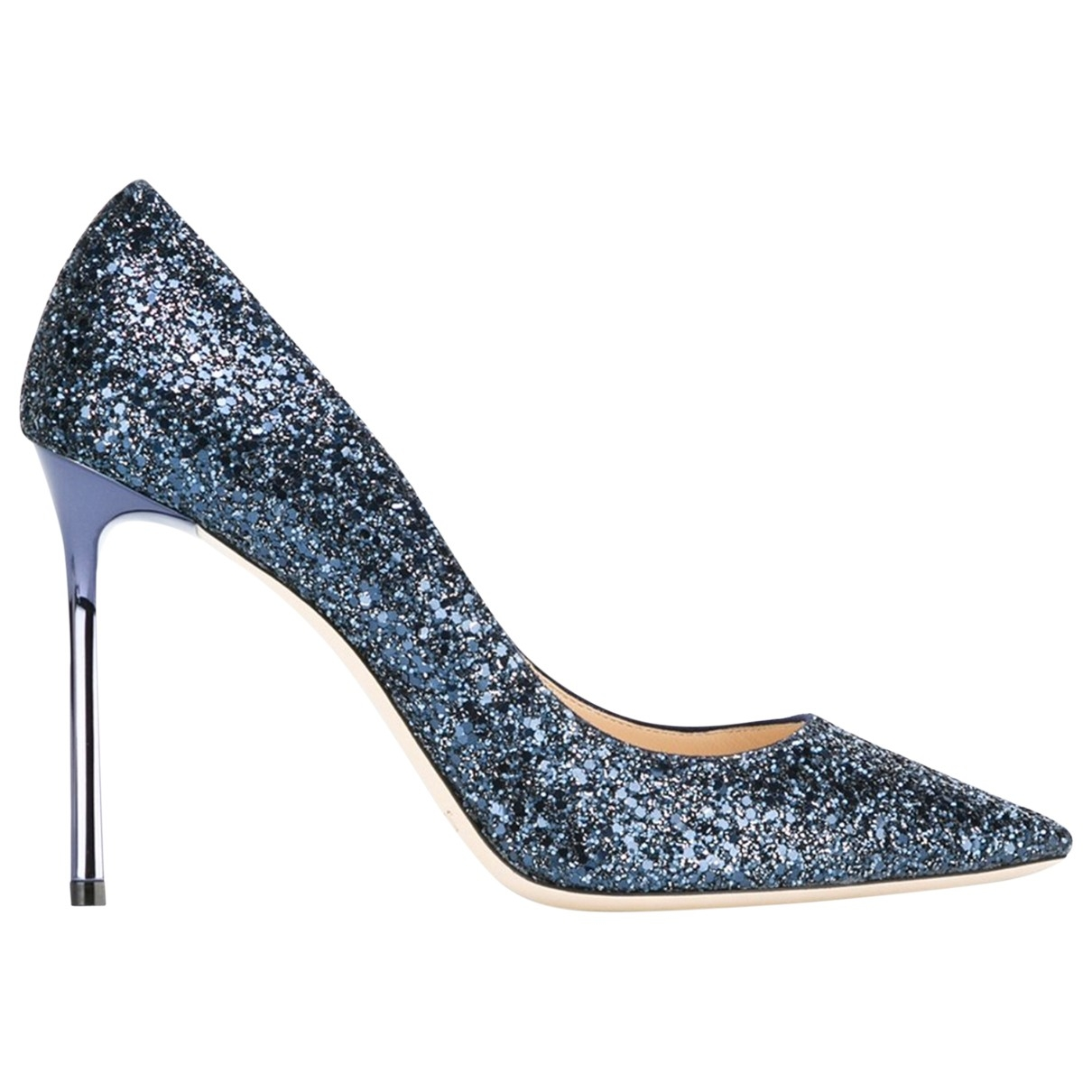 Jimmy Choo Romy Pumps in  Marine Mit Pailletten