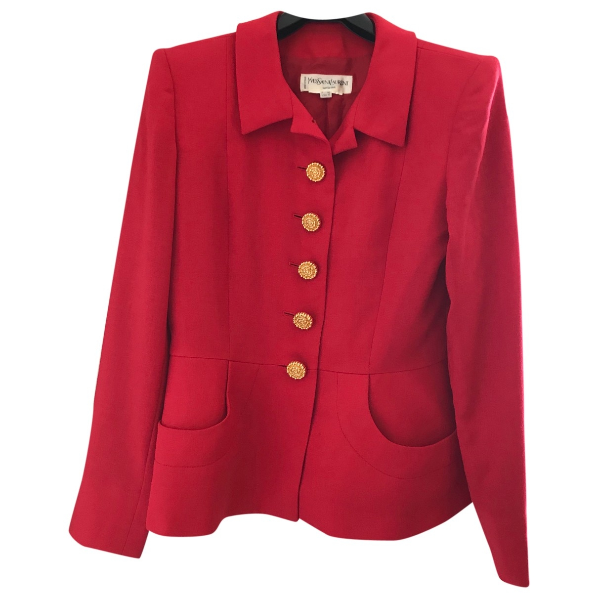 Yves Saint Laurent \N Red Wool jacket for Women 42 FR