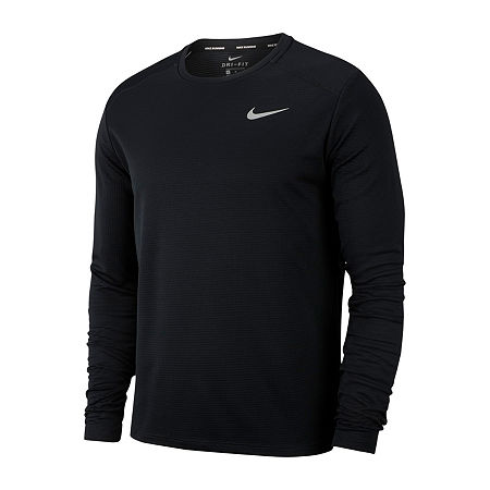 Nike Mens Crew Neck Long Sleeve T-Shirt, X-large , Black