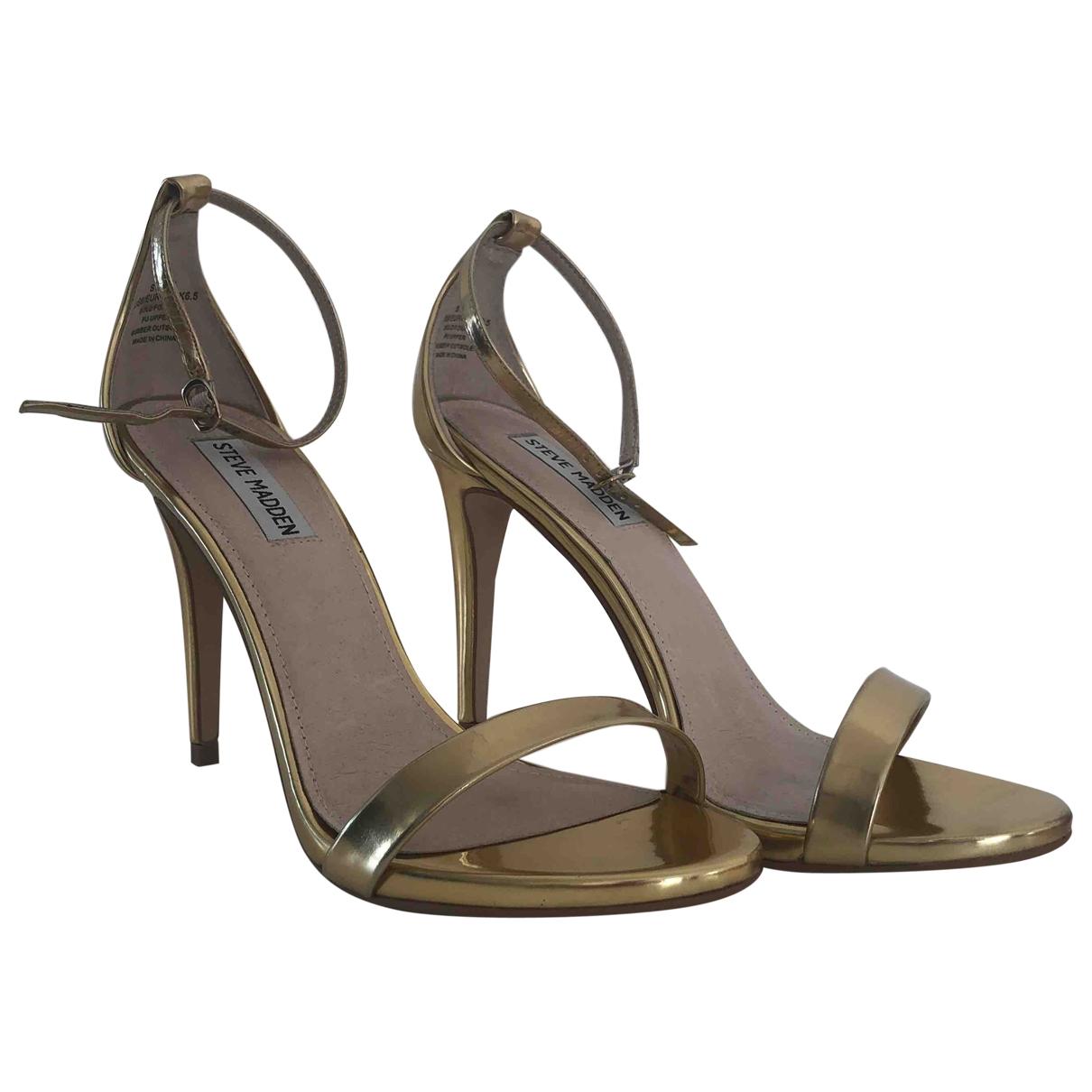 Steve Madden - Escarpins   pour femme en cuir - metallise