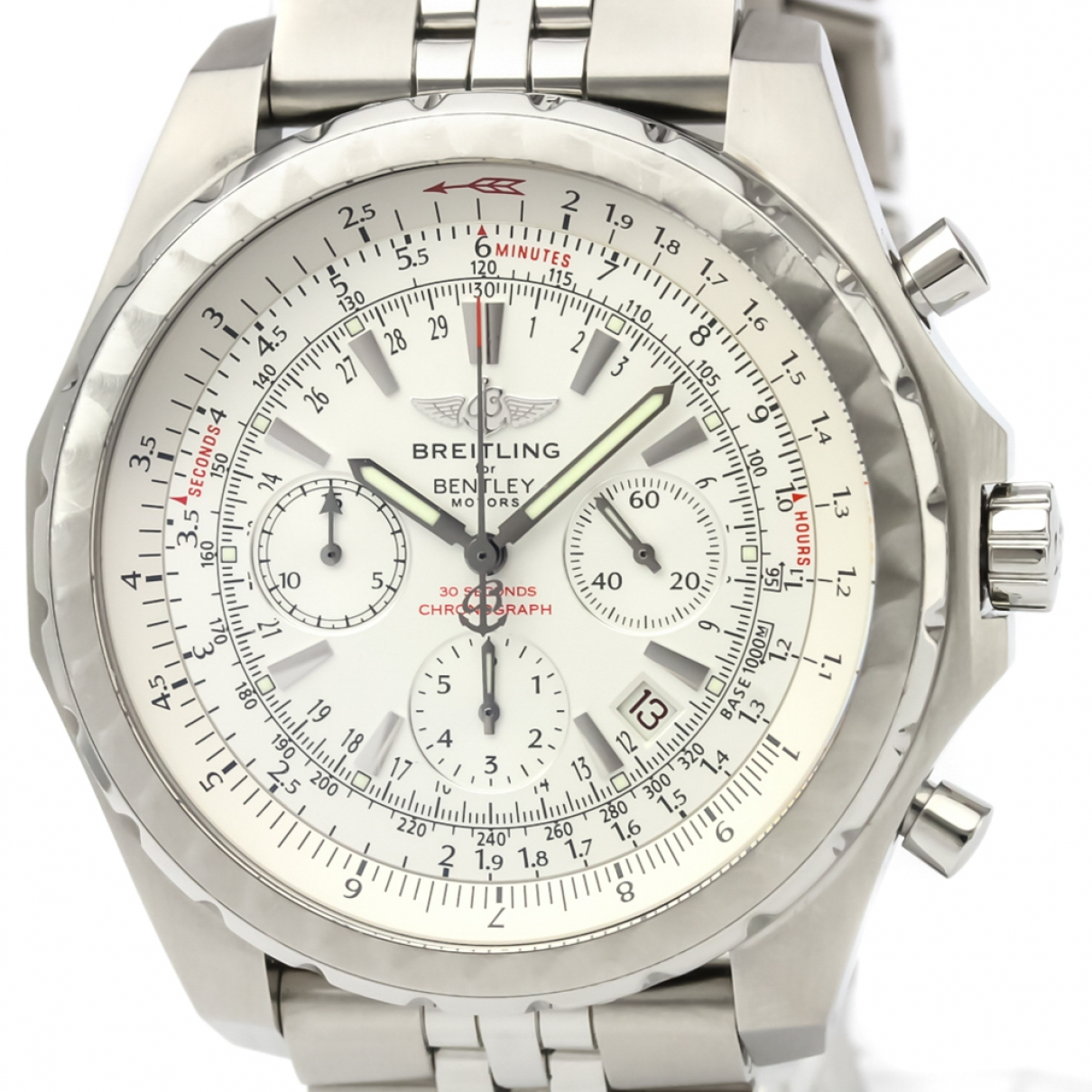 Breitling Breitling For Bentley Silver Steel watch for Men \N