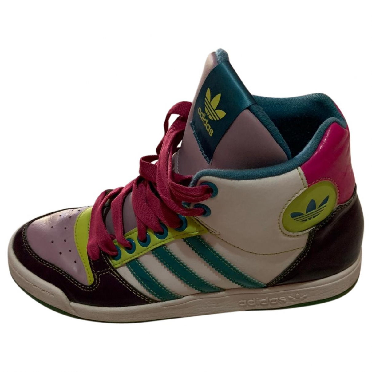 Adidas - Baskets   pour femme en cuir - multicolore