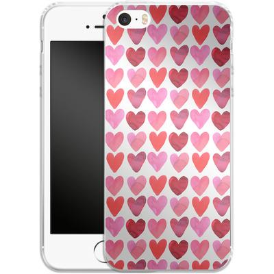 Apple iPhone 5s Silikon Handyhuelle - Heart Watercolour von Amy Sia
