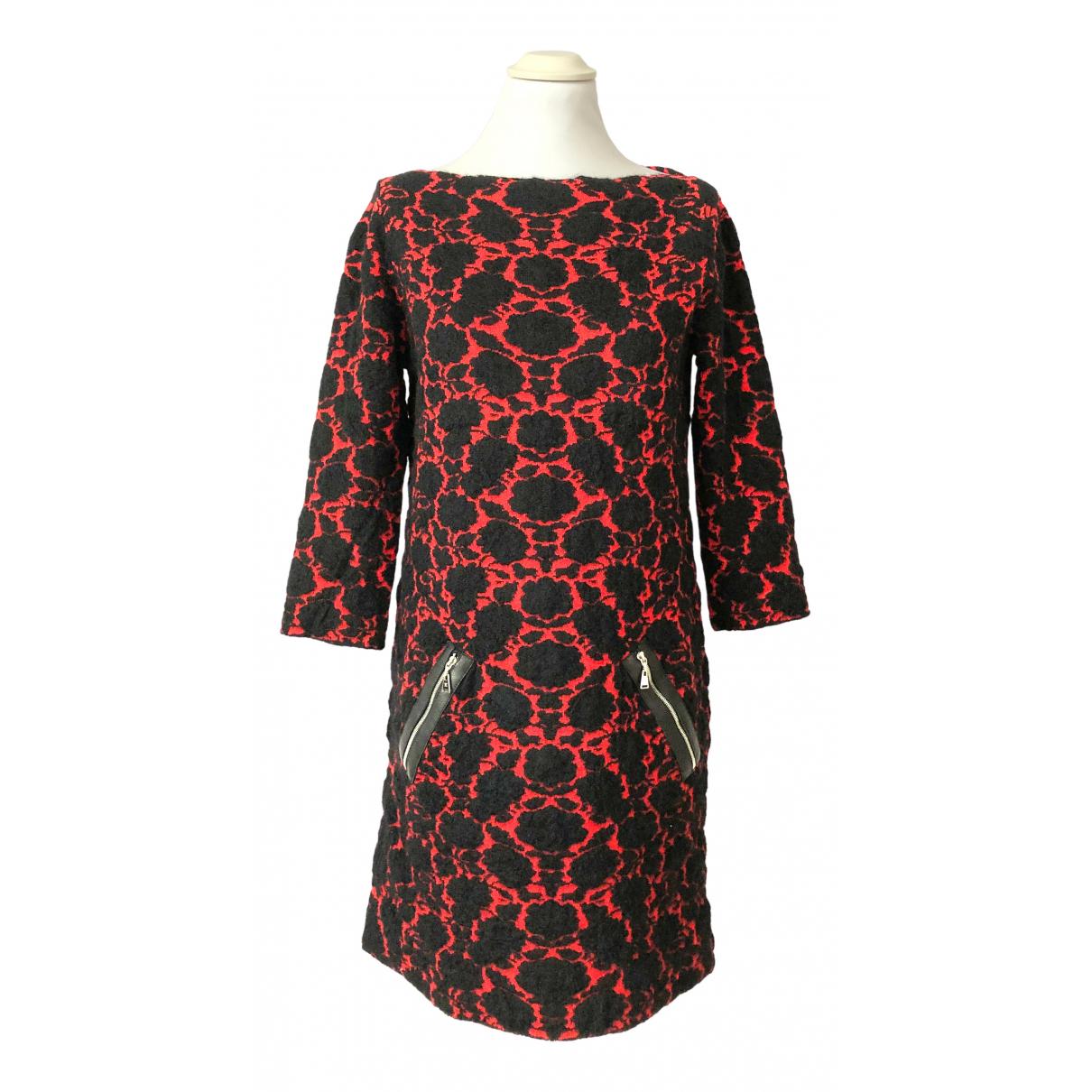 Louis Vuitton - Robe   pour femme en laine - rouge