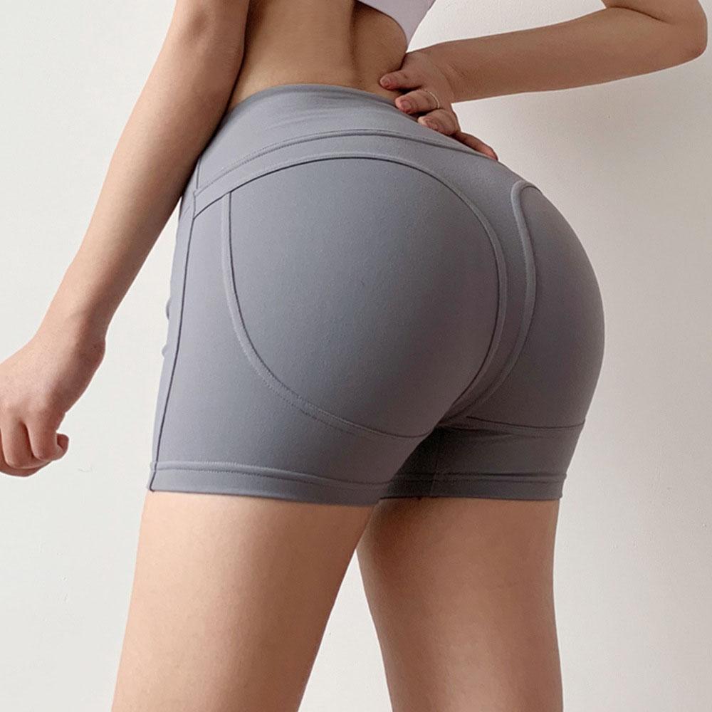 Women's High Waist Workout Shorts Tummy Control Yoga Shorts