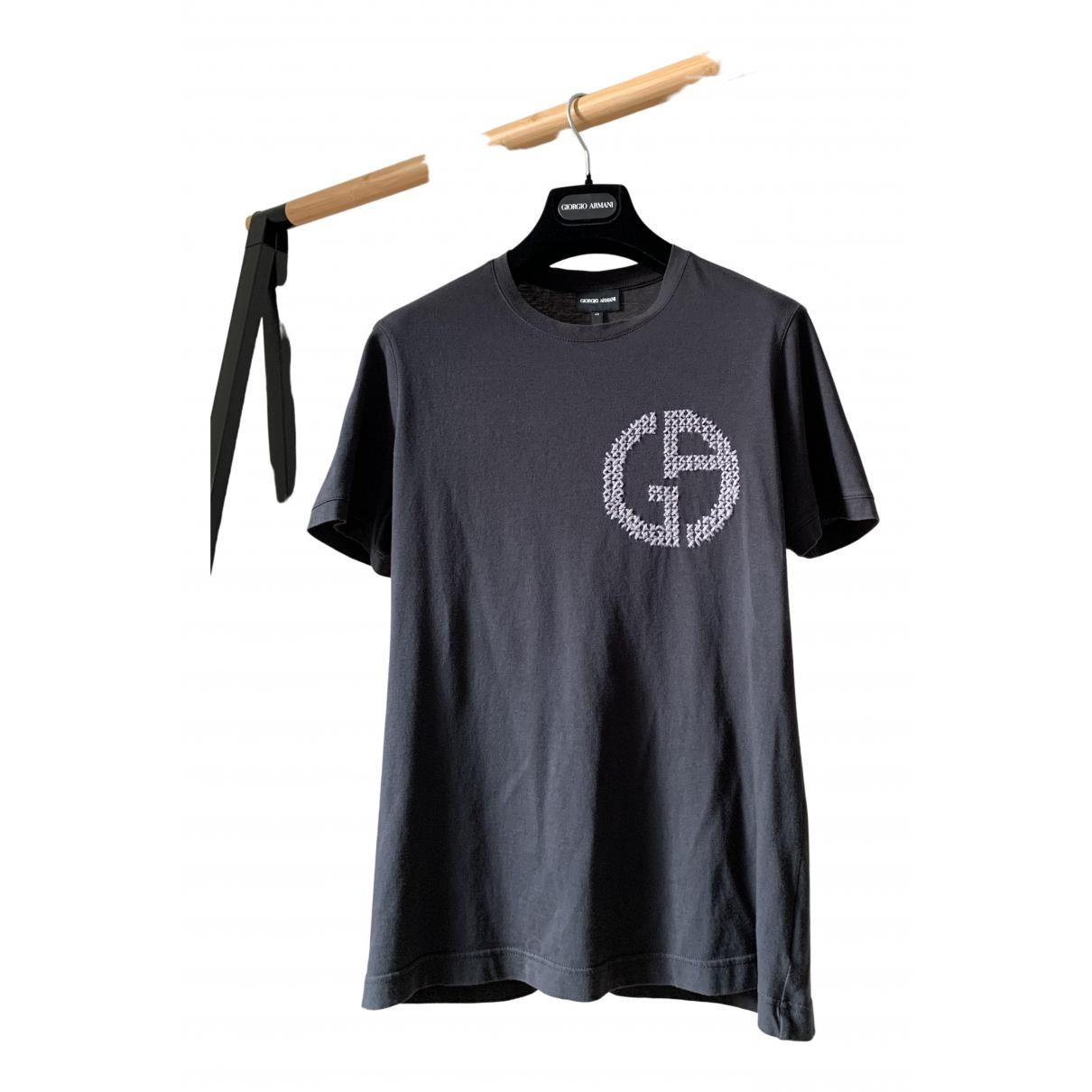 Giorgio Armani - Tee shirts   pour homme en coton - noir