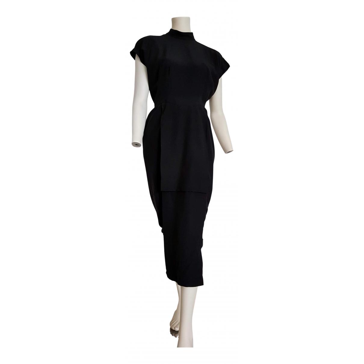 Karl Lagerfeld \N Kleid in  Schwarz Seide