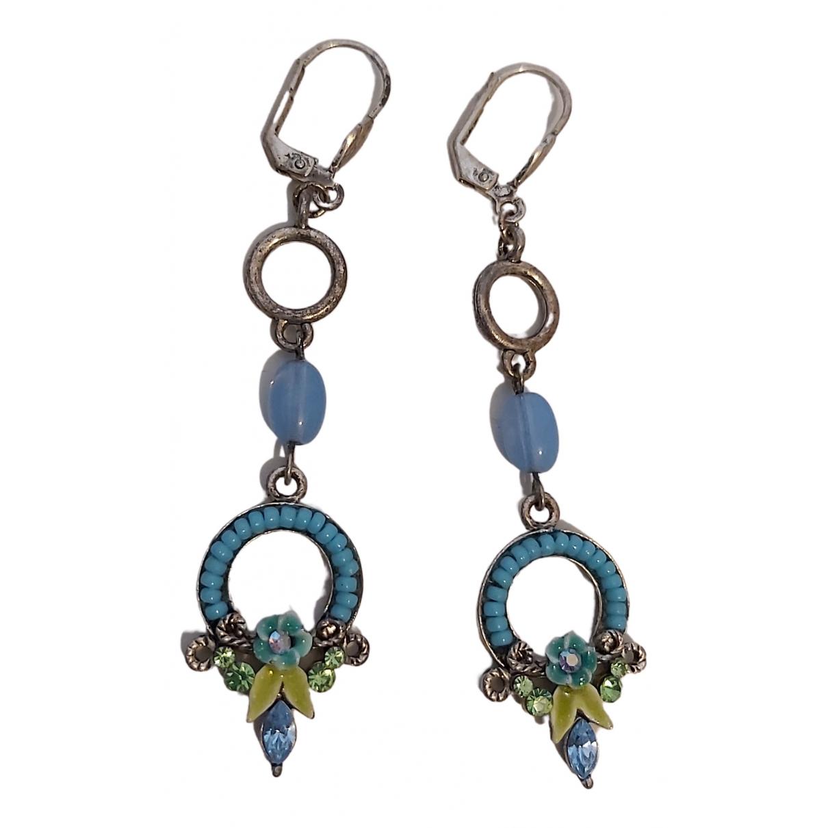 - Boucles doreilles   pour femme en metal - turquoise