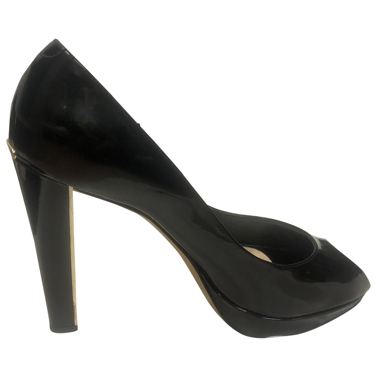 Dior Miss Dior Peep Toes Pumps in  Schwarz Lackleder