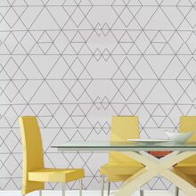 1sheet Geometric Pattern Wall Sticker