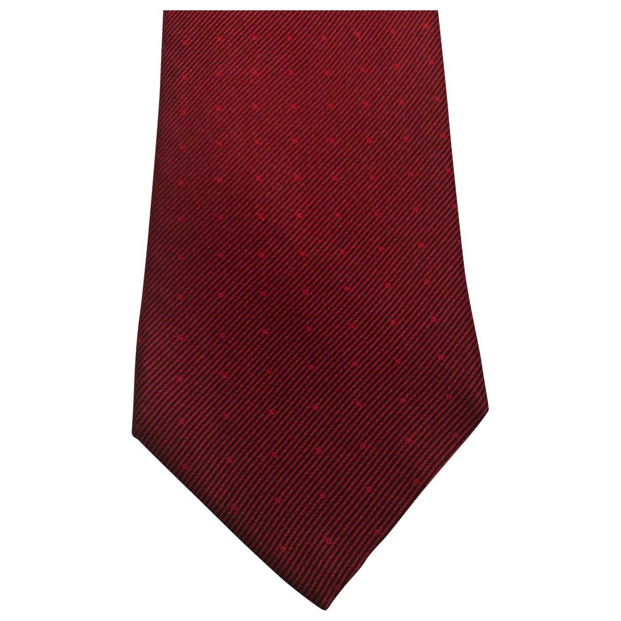Harrods - Cravates   pour homme en soie - bordeaux