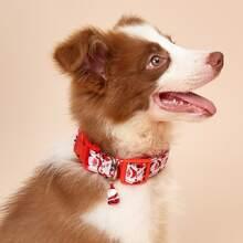 Christmas Santa Pendant Dog Collar